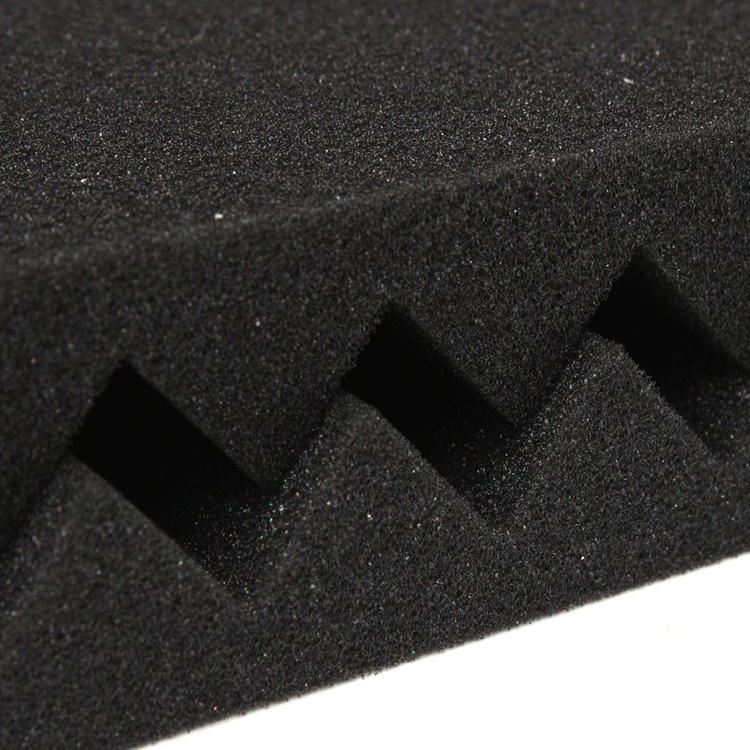 12 Packs Soundproofing Acoustic Studio Wedge Foam Tiles Wall Panels 30*30*2.5cm