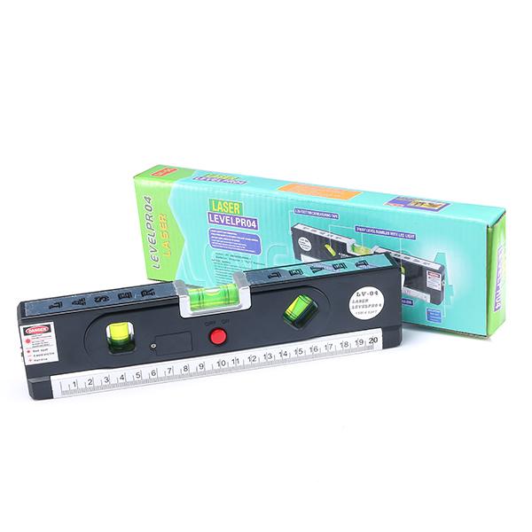 Loskii DX-012 Multipurpose Laser Level Horizontal Vertical Measure Tape Aligner Ruler With 3 Bubbles