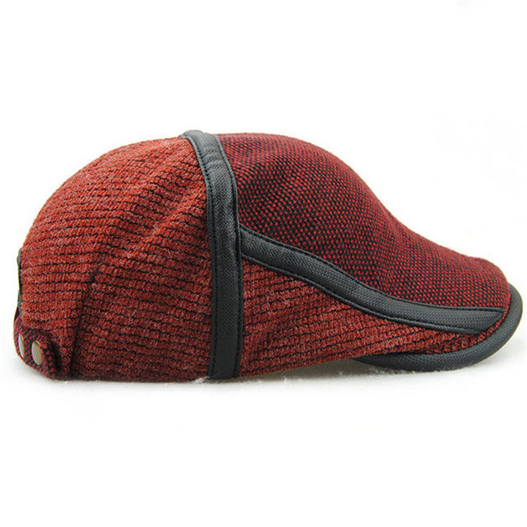 Unisex Knitted Beret Hat Knitting Buckle Beret Hat