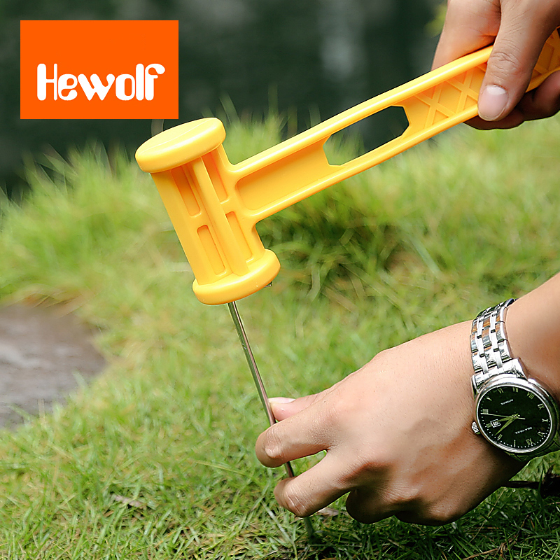 Hewolf Plastic Hammer Anti Skid Handle Portable Ultralight Outdooors Camping Climbing Hiking Travel