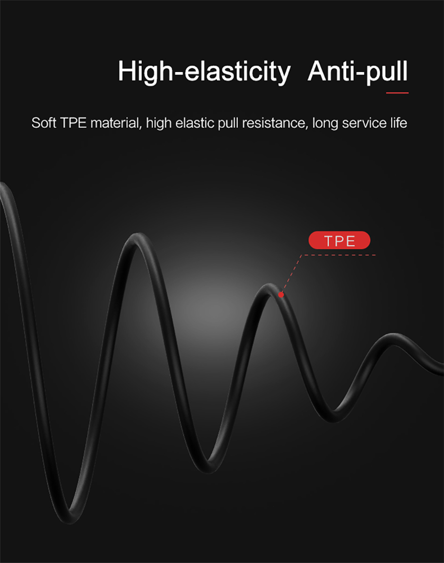 USAMS EP-16 3.5mm Plug TPE Cable Flat-ear Wire Control Dynamic Driver HiFi Earphone With Mic