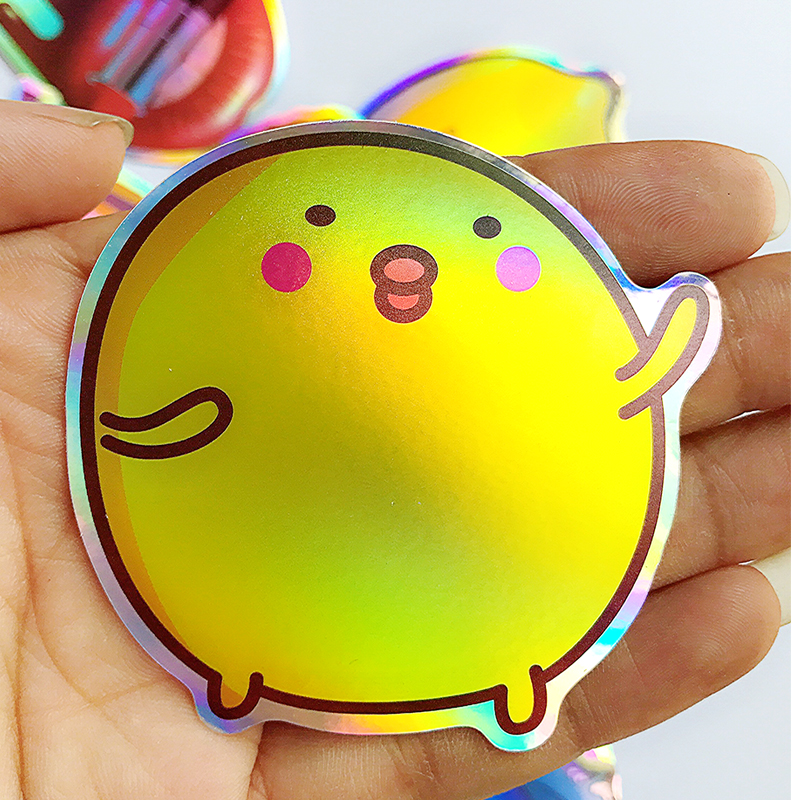 28pcs Cartoon Colourful Reflection DIY Laser Stickers For Suitcase Skateboard Laptop Luggage Sticker Motorcycle Toys Flash Waterproof Graffiti Decals Stickers