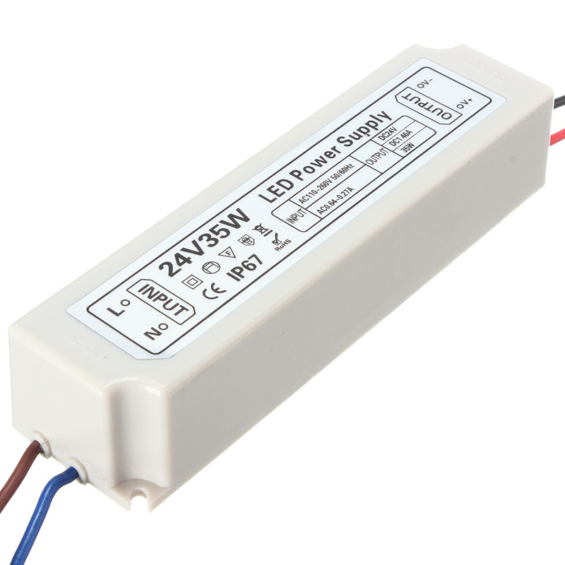 IP67 35W AC100-264V To DC24V Switching Power Supply Driver Adapter