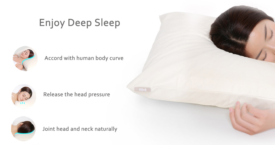 Original Xiaomi 8H Z1 Standard Natural Latex Neck Protecting Pillow Anti Mite With Pillow Case