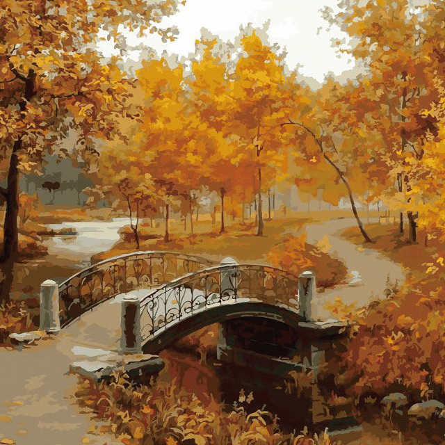 DIY Frameless Painting The Autumn Wind Is Soughing Linen Canvas Oil Painting Paint By Numbers Home Wall Paper Art 40X50CM