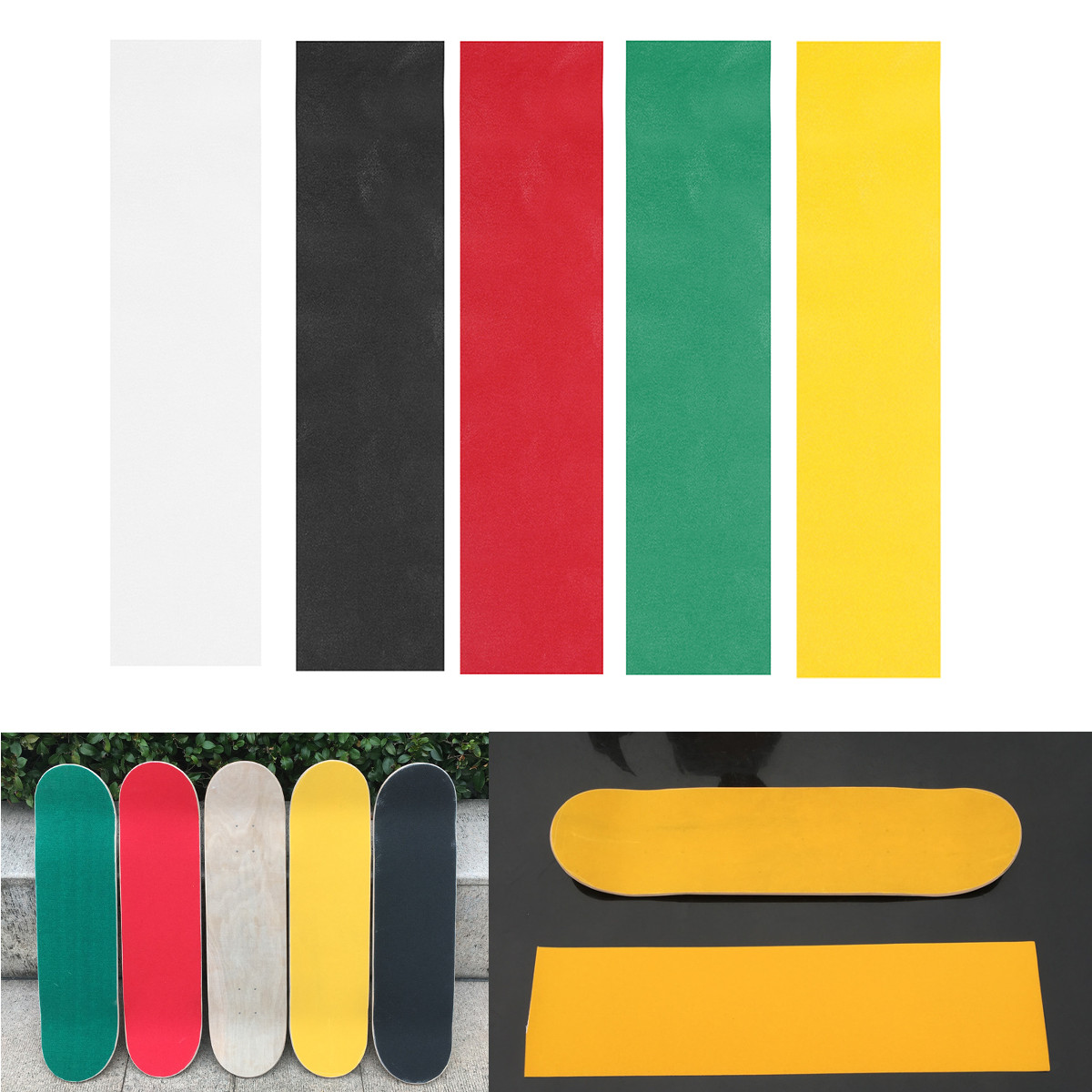 Colorful Skateboard Deck Sandpaper Grip Tape Griptape S