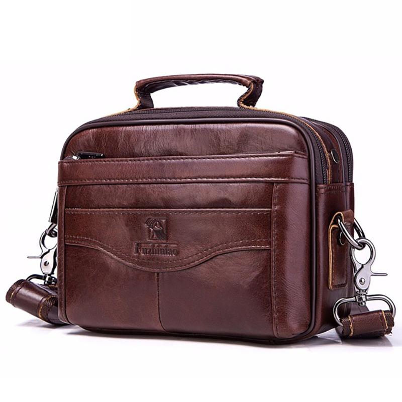 Genuine Leather Men Bag Fashion Business Messenger Bag