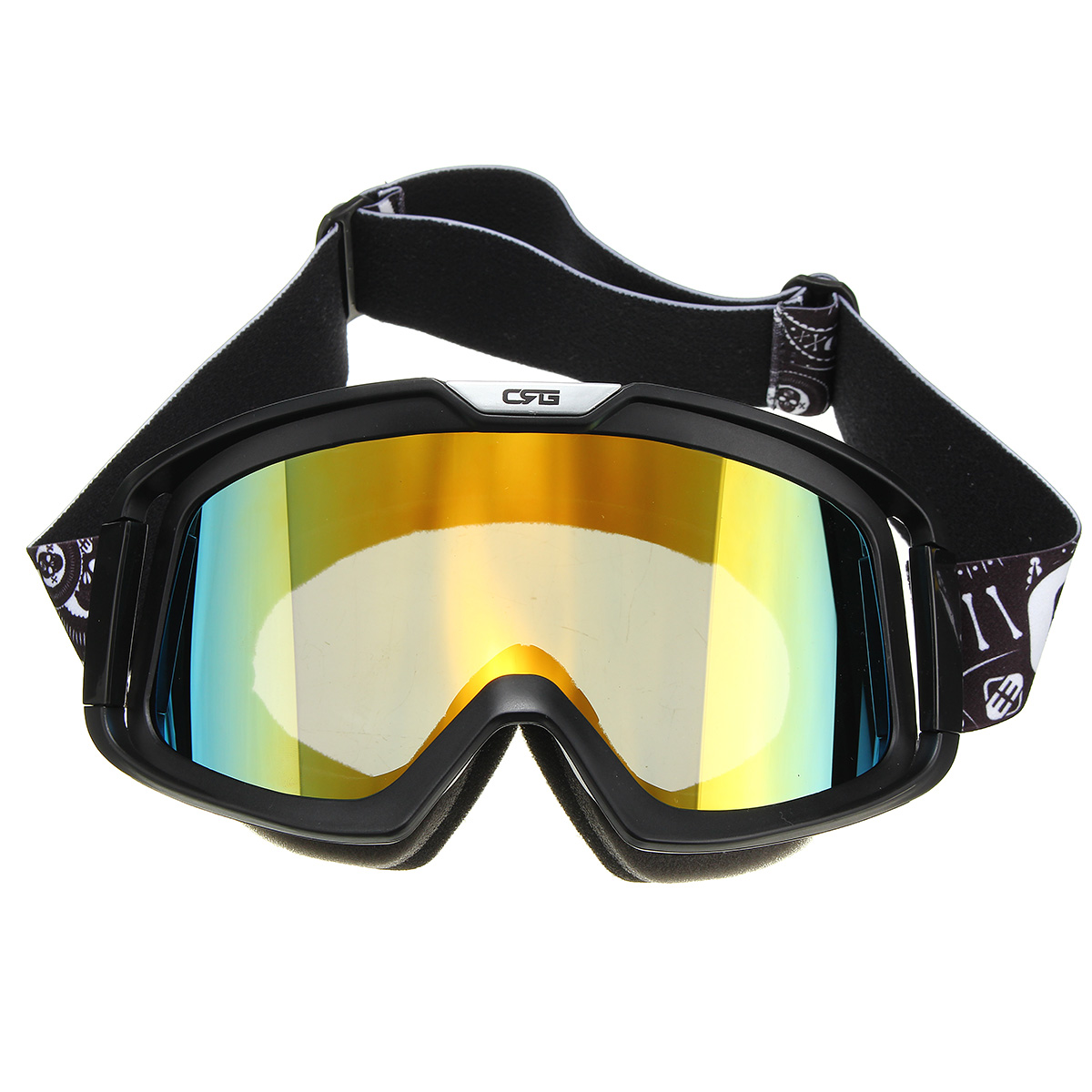 Motorcycle Helmet Yellow Lens Detachable Goggles Modular Face Mask Shield