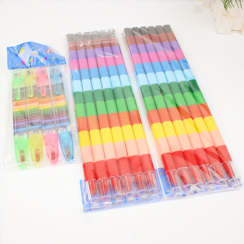 Creative Coloring Crayon 12 Color Crayon Painting Stick Pen Student Stationery