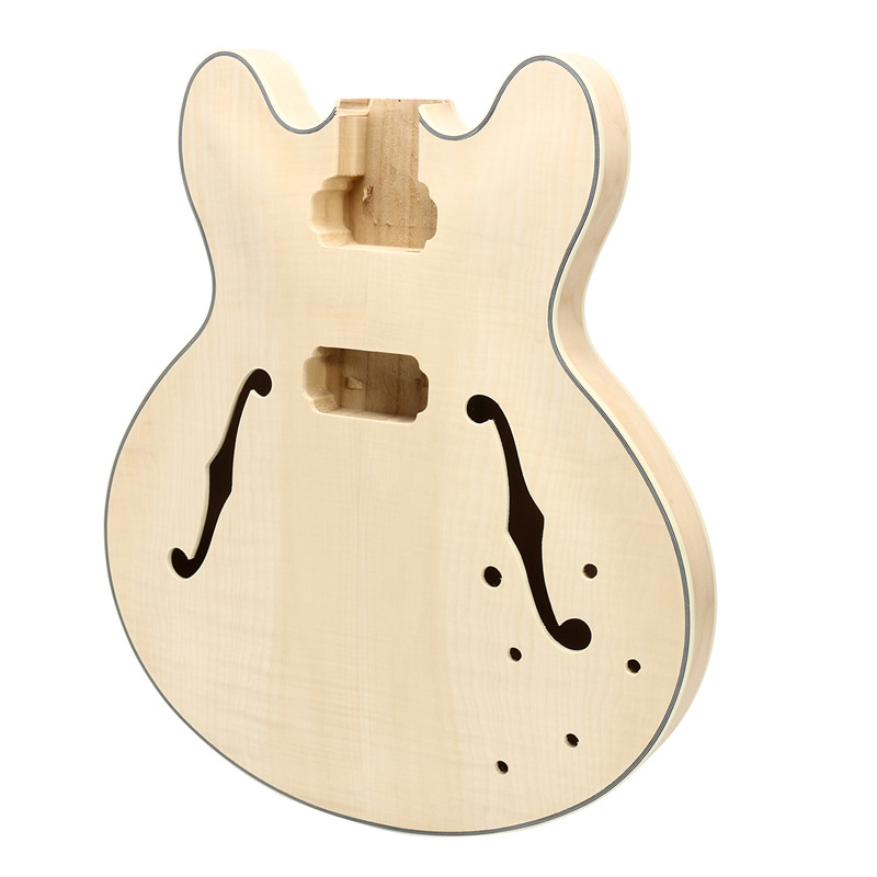 DIY Electric Guitar Mahogany Wood Body For ES335 Electric Guitar Body Part Two F Holes