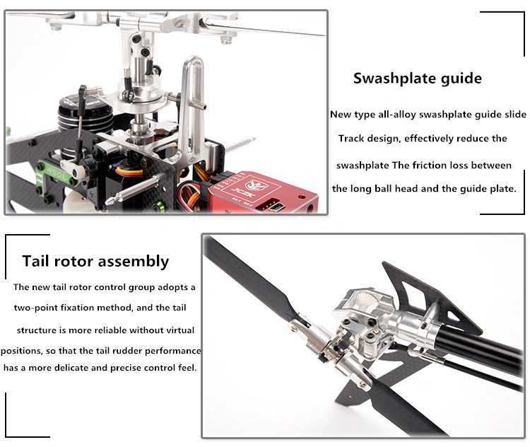 JCZK 450L DFC 6CH 3D Aerobatics Flying Flybarless Smart RC Helicopter with Brushless Motor Swashplate Servo Tail Servo Brushless ESC Charger Gyroscope Battery