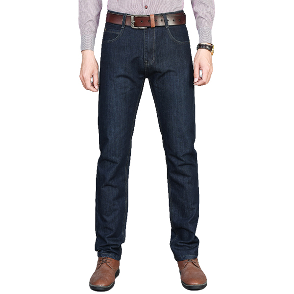 Mens Spring Summer Straight Legs Loose Casual Business Jeans