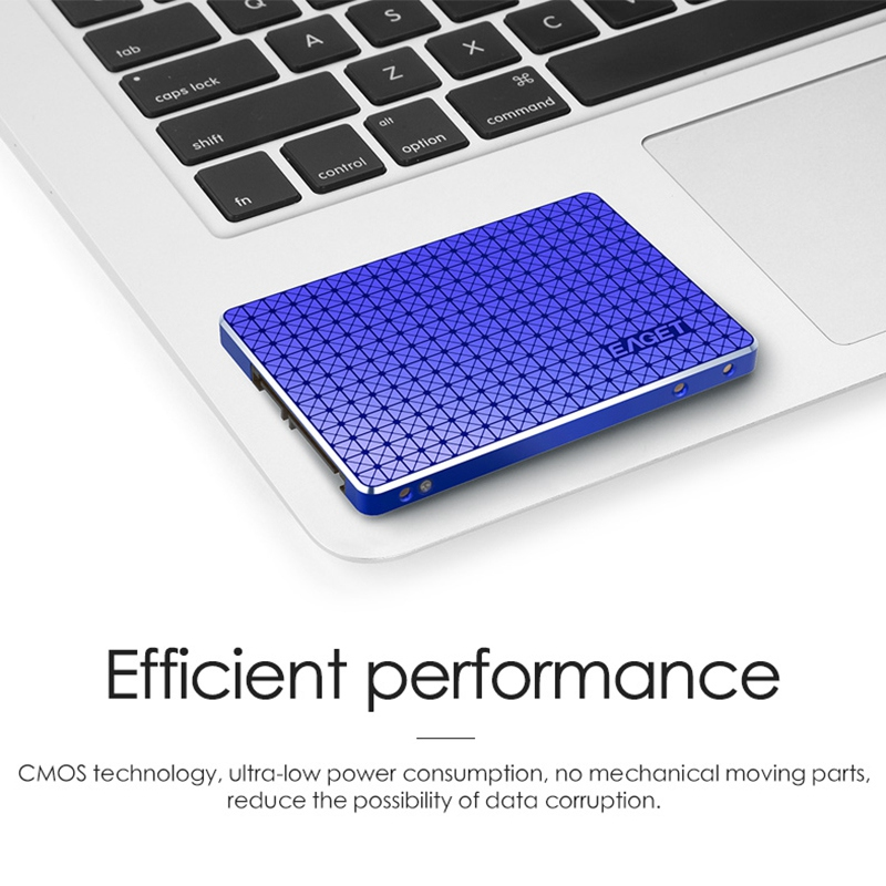 EAGET S500 2.5 inch Blue Internal SSD SATA 3.0 128GB 256GB High Speed Solid State Drive Hard Drive