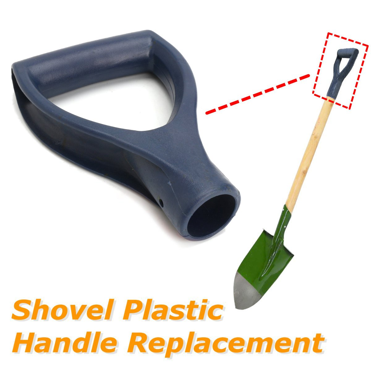 D Shaped Plastic Grip Shovel Handle Replacement Spades Forks Garden Snow Removal