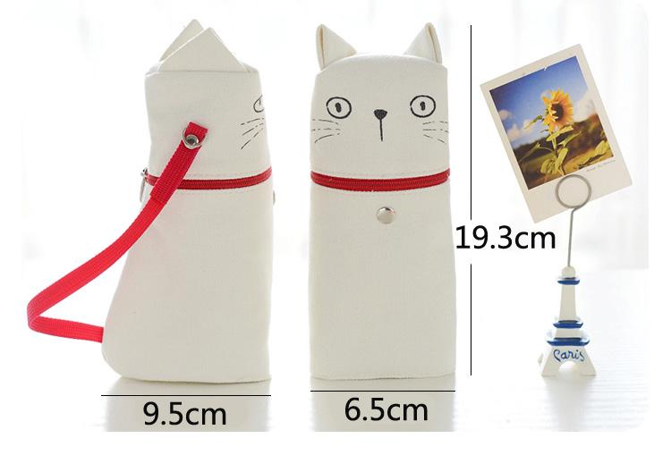 Kawaii Emoticon Printing Cute Cat Pencil Box Big Capacity Pen Case School Supplies
