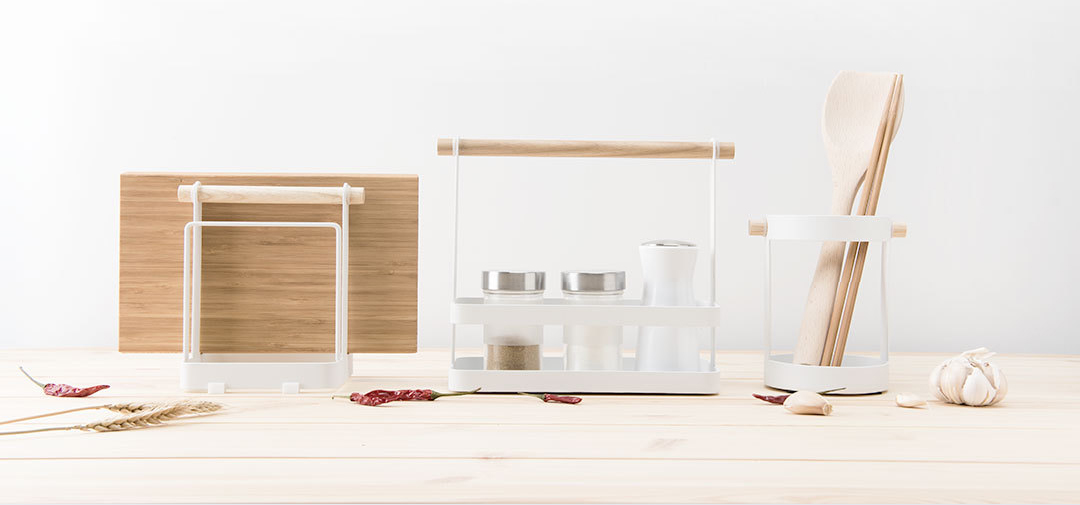 Xiaomi Simple Kitchen Storage Rack Set Condiment Tableware Atand Chopping Board Rack