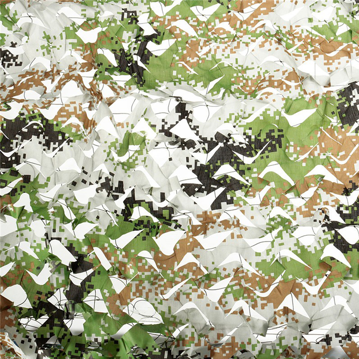 Outdoor Camping Woodland Leaves Digital Camouflage Net Tactical Double Layer Netting Web