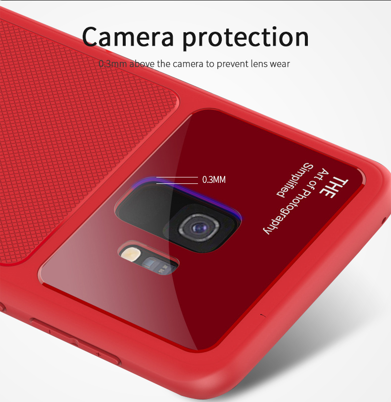 Bakeey Glass Camera Lens Soft TPU Protective Case for Samsung Galaxy S9/S9 Plus