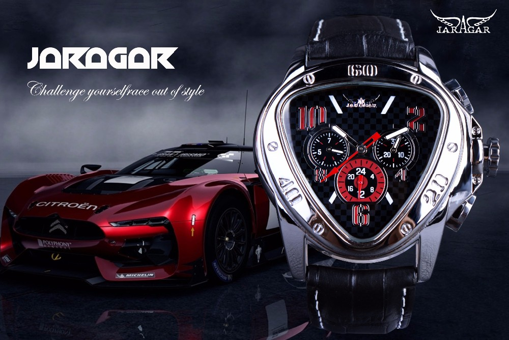 JARAGAR 516 Triangle Design Automatic Mechanical Watches
