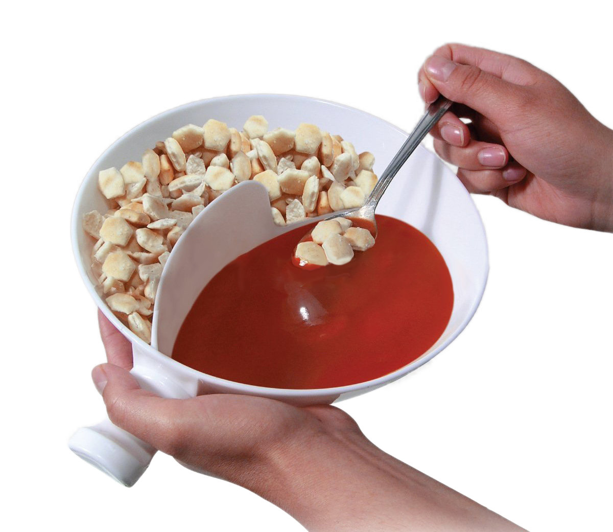 Multifunctional Plastic Cereal Snacks Bowl Separate Con