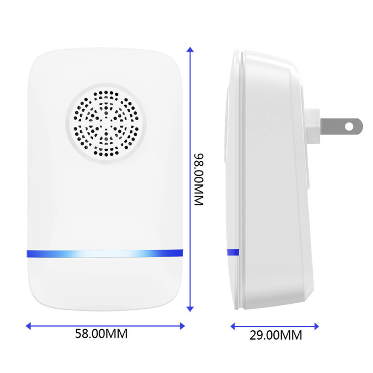 Automic Electric Ultrasonic Mosquito Dispeller Rat Mouse Repellent Intelligent Insect Repellent