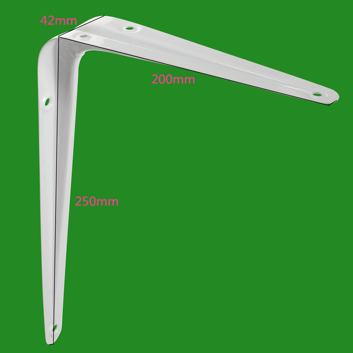 Home Metal Shelf Support Mount Angle London Shelving Brackets Holder 250 x 200mm