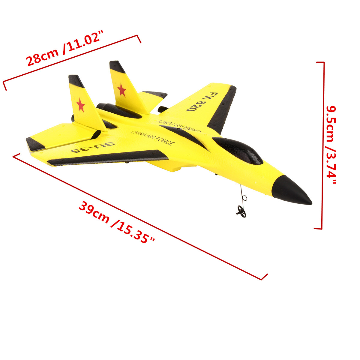 SU-35 Helicopter Plane Toy Glider Airplane EPP Foam 3.5CH Toys