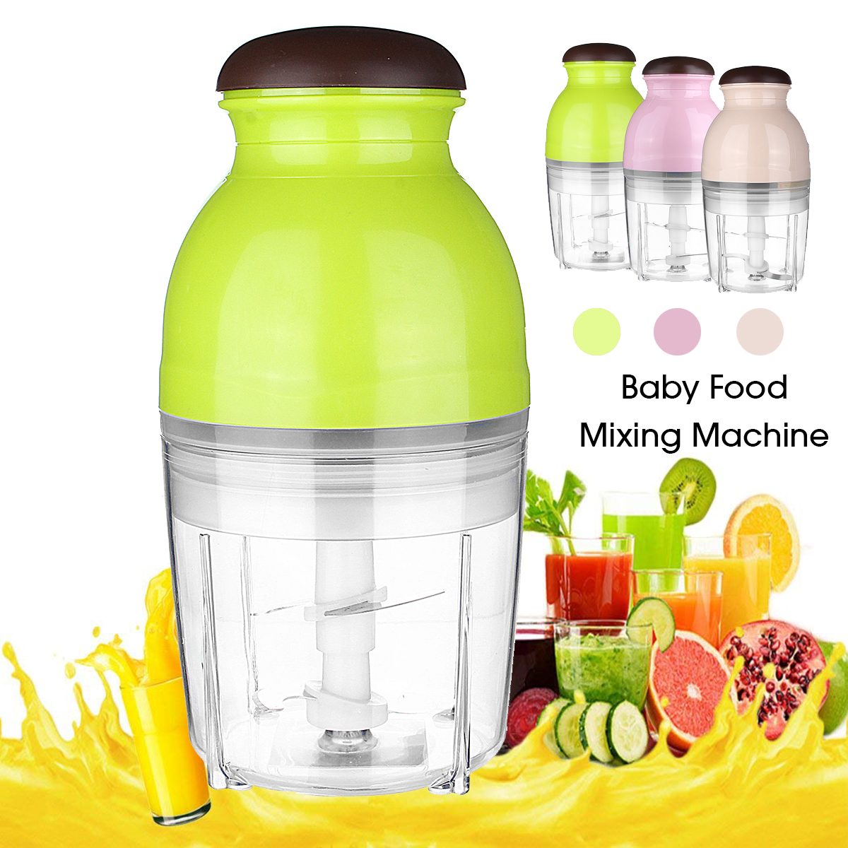 600ML Baby Food Processor Electric Blender Agitator Chopper Mixer 600W Juicer