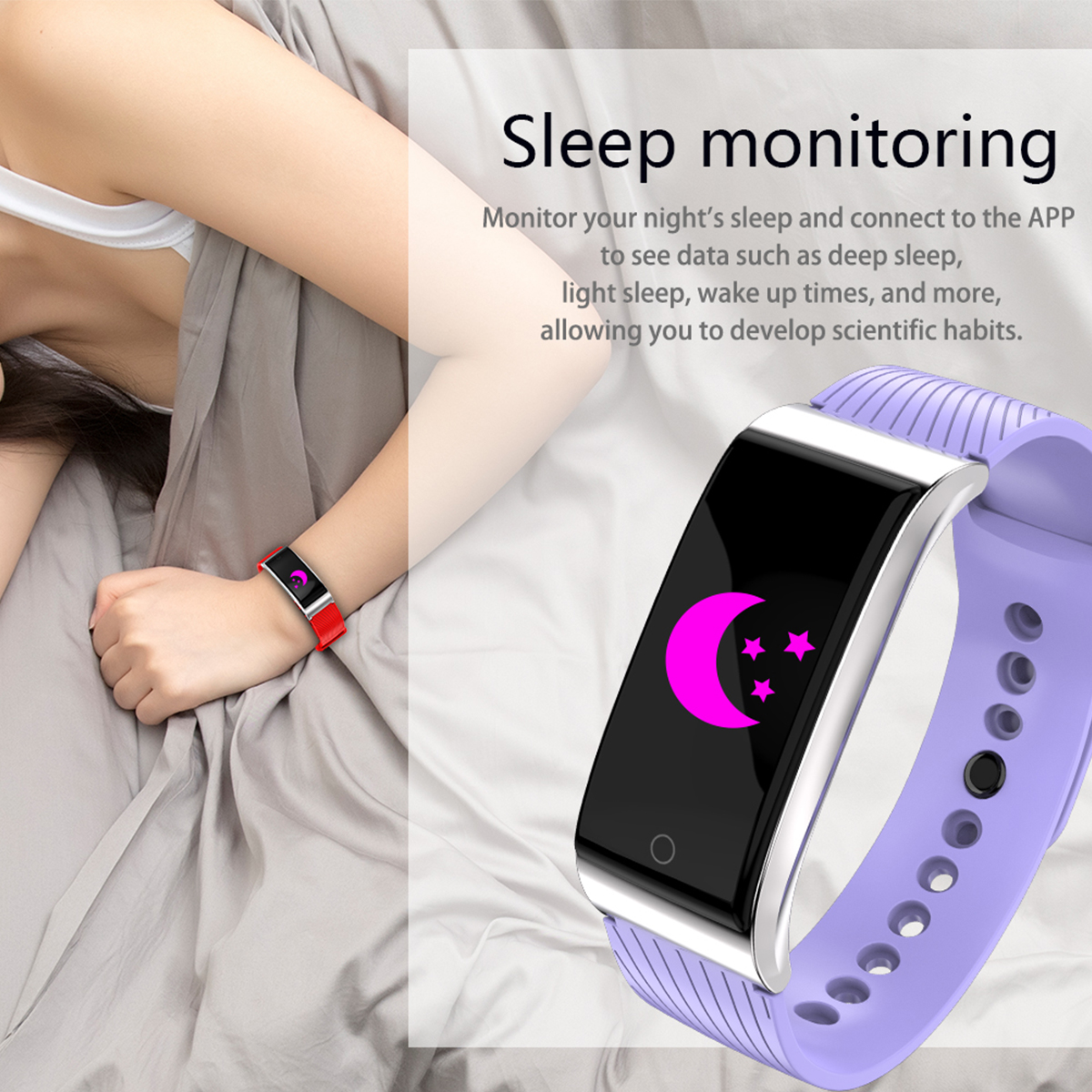 F4 0.96'' Color Screen Heart Rate Blood Pressure Tennis Badminton Fitness Tracker Smart Wristband