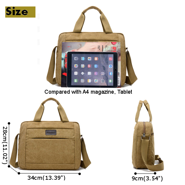 Men Canvas Handbag Big Capacity Multicolor Bag Outdoor Shoulder Bag