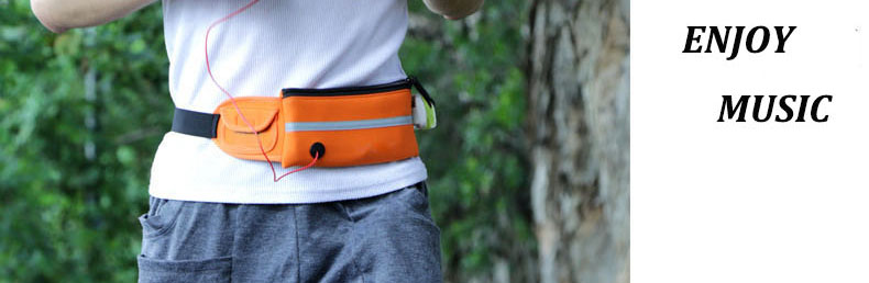 IPRee Sports Running Waist Bag Pack Unisex Phone Pouch Anti Theft Security Phone Case Storage
