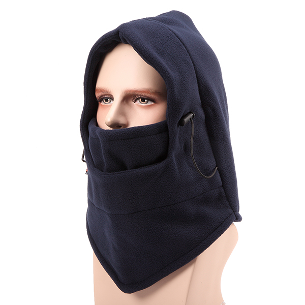 Unisex Outdoor Sports Thickenning Fleeces Cap Warm Windproof Masked Cycling Hat