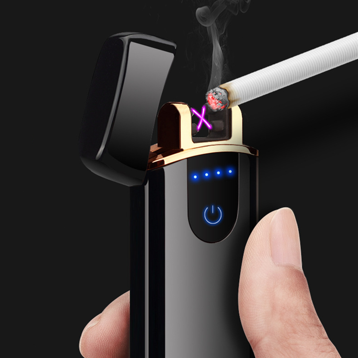 Electric Lighter USB Rechargeable Arc Windproof Flameless Plasma Torch Lighter Gifts