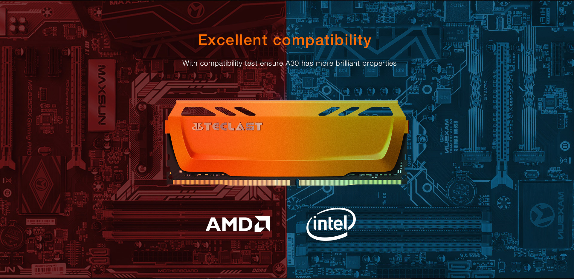 Teclast A30 DDR4 8G 2400Mhz Desktop Computer Memory 288Pin DIMM PC Gaming Memory