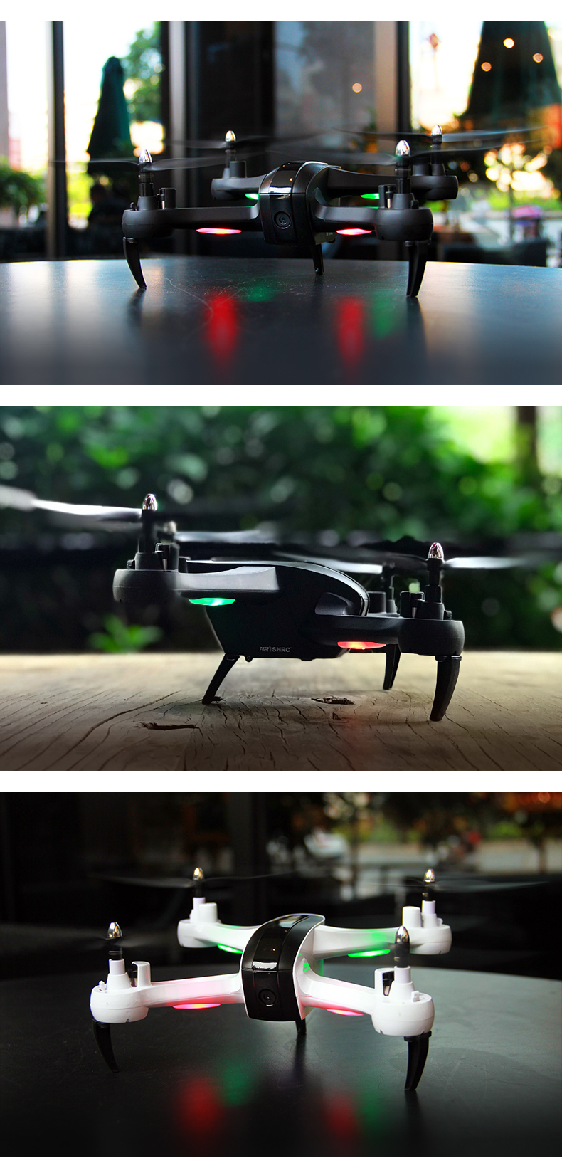 HR SH7 WIFI FPV With 1080P HD Camera 18mins Flight Time Altitude Hold Mode RC Drone Quadcopter RTF - Photo: 8
