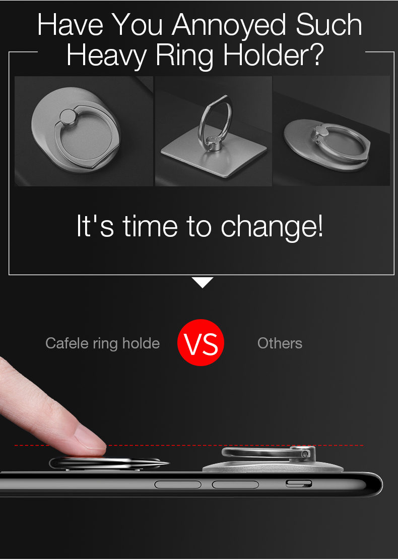 Cafele Devail Shape Finger Ring Holder Phone Lazy Holder Mount for iPhone X 8 Samsung S8 Xiaomi 6