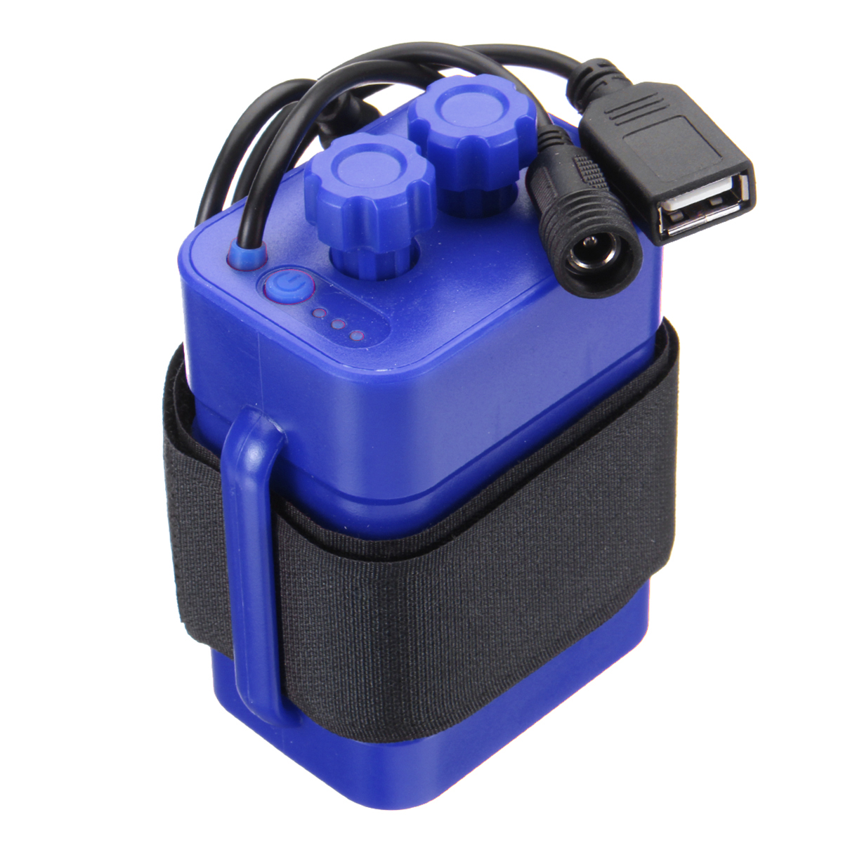 8.4V 6X 18650 Waterproof Battery Pack Case House Cover For Bicycle Bike Lamp DMG