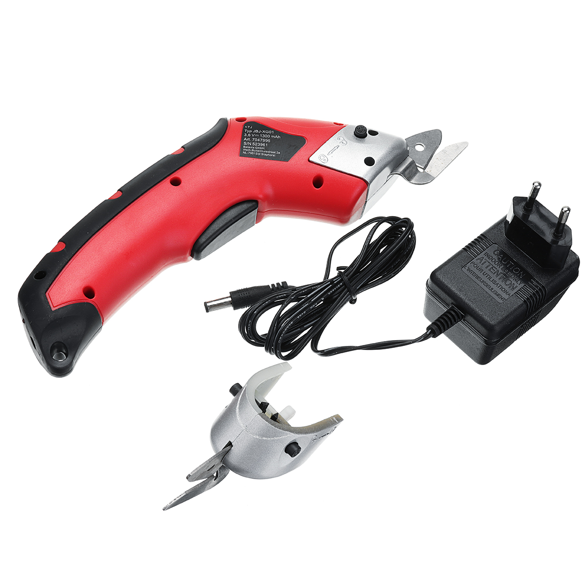 100W Cordless Electric Scissors Auto Cutter with 2 blades Fabric Cutting Machine