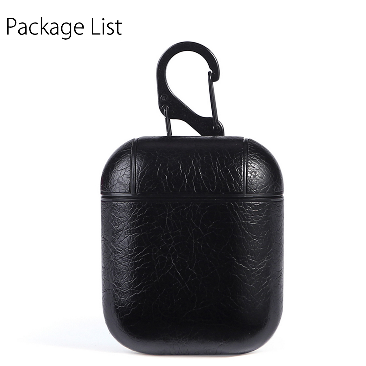 PU Leather Shockproof Protective Case With Hook For Apple AirPods