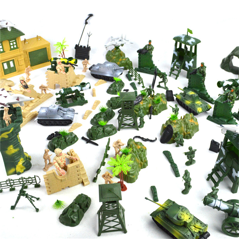 200PCS Military Soldiers Army Figures & Accessories Model For Kids Children Christmas Gift Toys