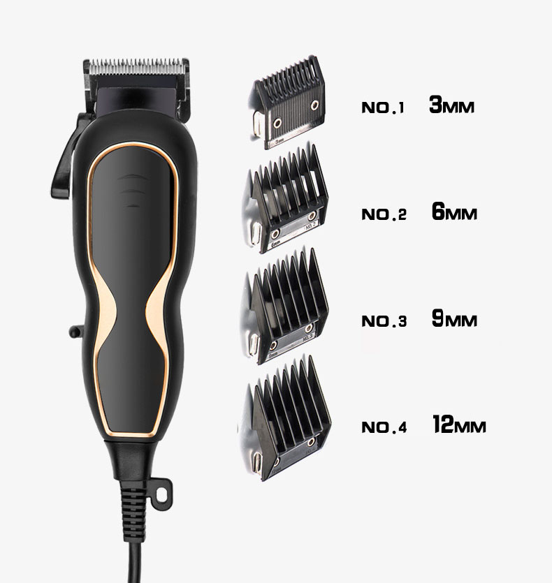 Professional Electric Hair Clipper Trimmer Grooming Sharp Blade Low Noise Beard Shaver 220V