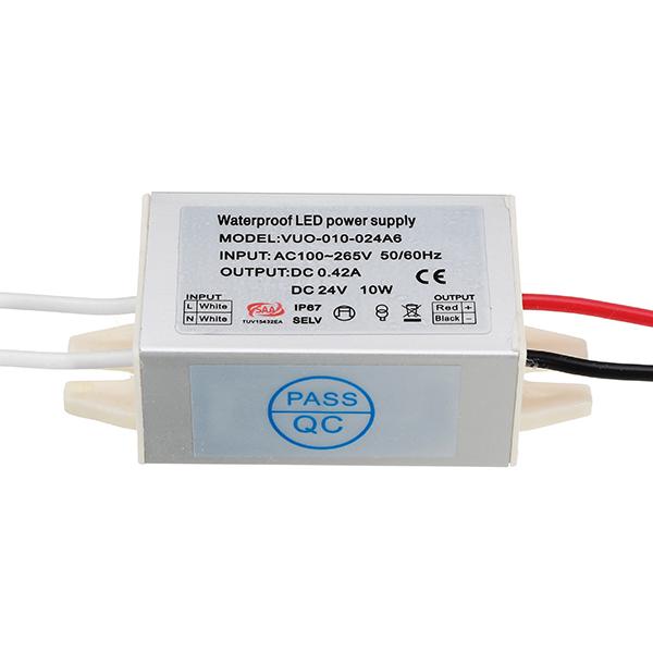 DC12V DC24V 10W Waterproof Aluminum Mini Power Supply LED Driver Transformer