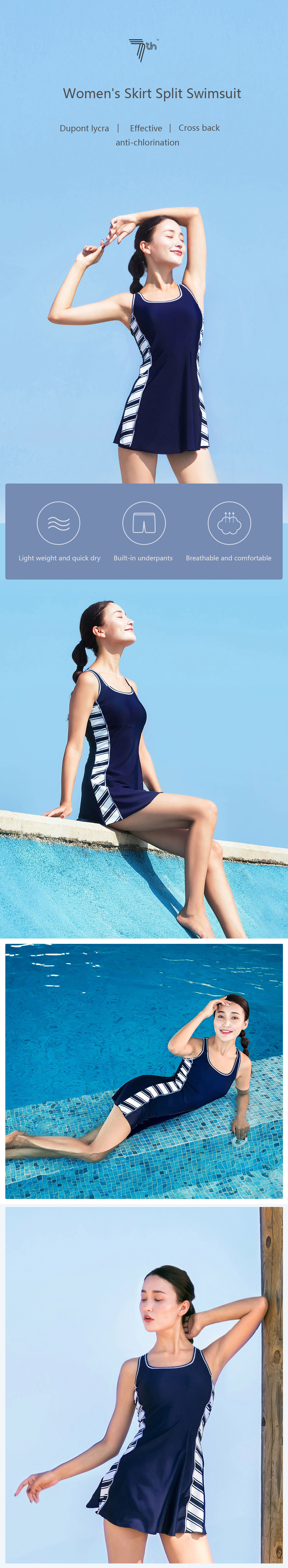 XIAOMI 7th Summer Women Two Pieces Sexy Quick-dry Lycra Fabric Breathable Swimwear Beach Swimsuit