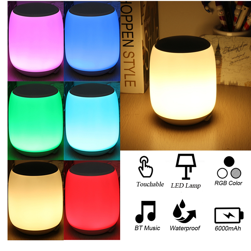 Touch Sensor LED Reading Light Night Lamp with Stereo Wireless bluetooth Speaker