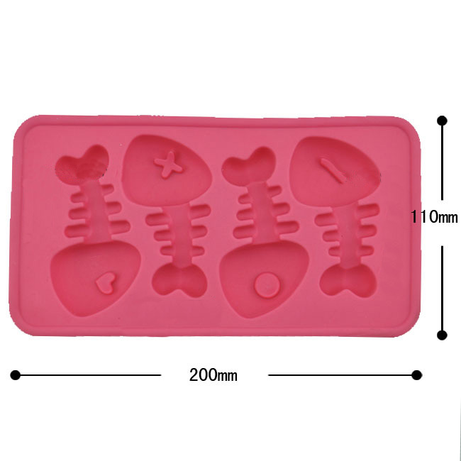 Fish Bone Shape Ice Cube Tray Ice Maker Chocolate Candy Cake Mould Creative Bar Tools