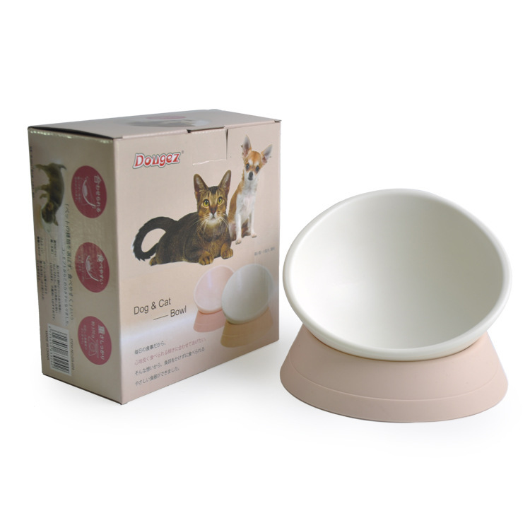 Pet Cat Dog bowl 360 Degree Any Angle Cat Bowl Tilting Anti-skid Pet Bowl Non-slip Resin Dog Feeders