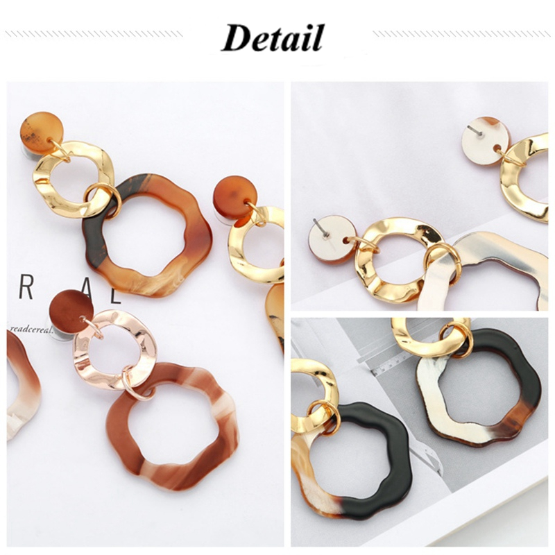 Fashion Dangle Geometry Acrylic Reputation Women Earrings
