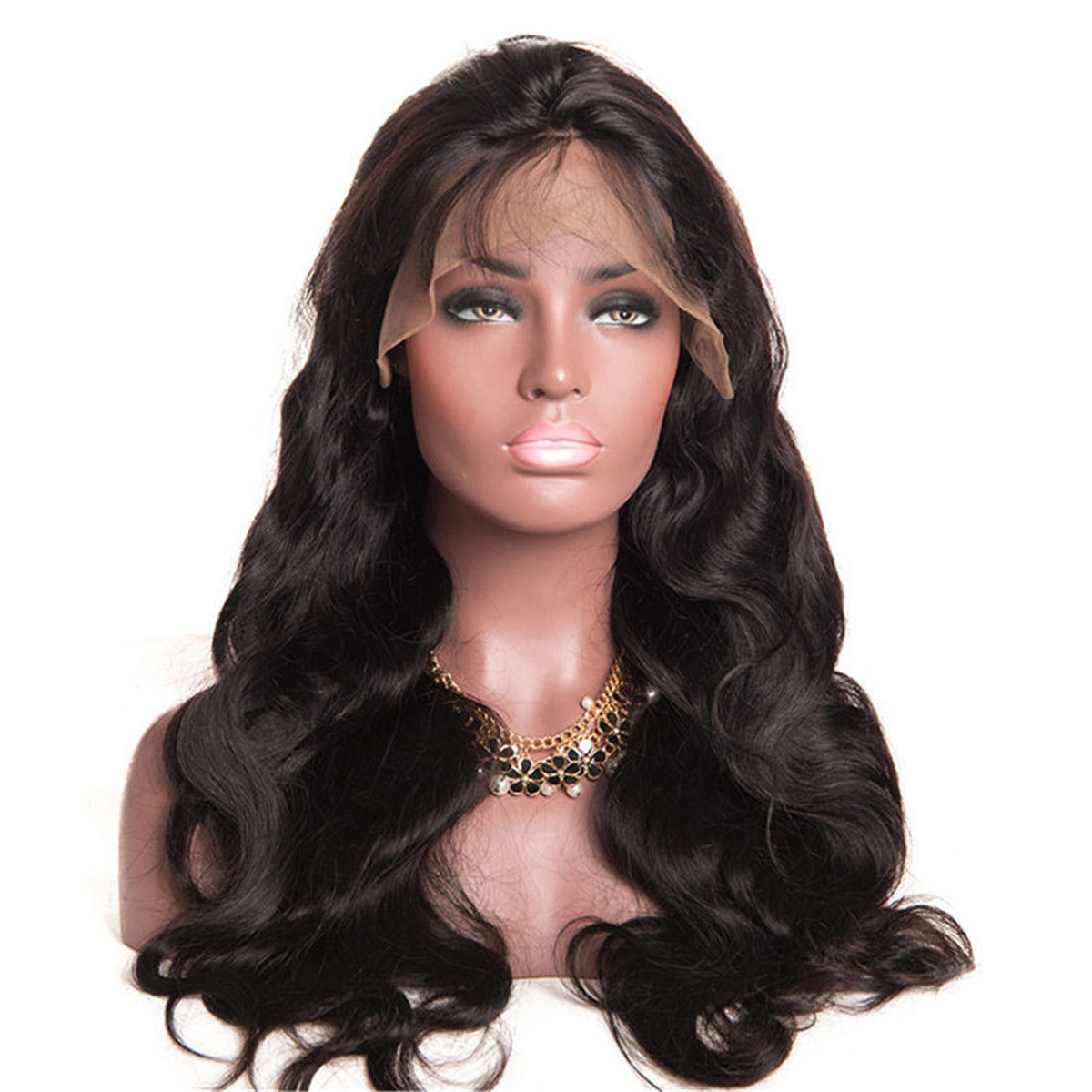 Glueless Lace Front Hair Wigs Wave Curly Wig Brazilian