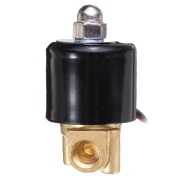AC 220V Normal Closed Electric Solenoid Valve Water Air 1/2 Inch Brass Solenoid Valve