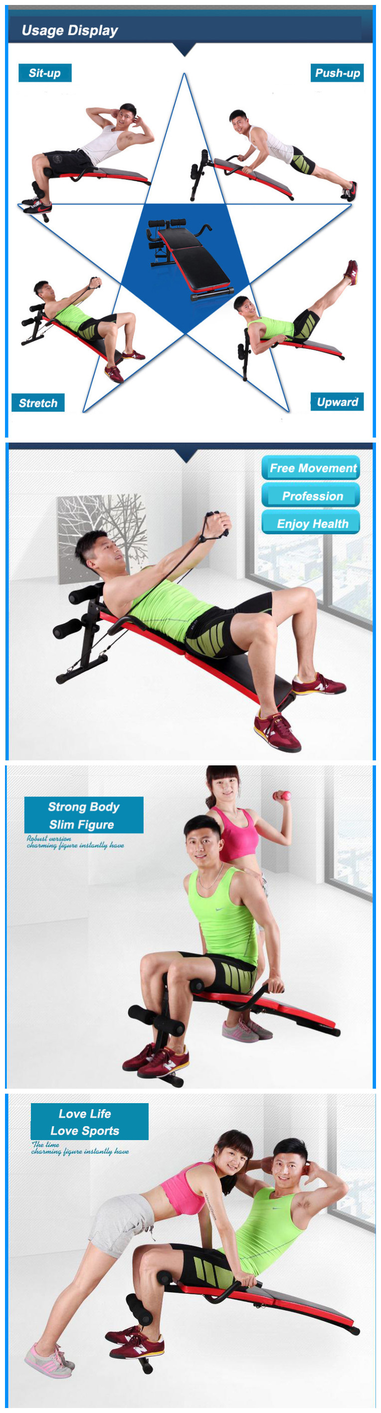 Fitness Decline Sit Up Bench Crunch Board Abdomen Equipment For Home Physical Training Exercise